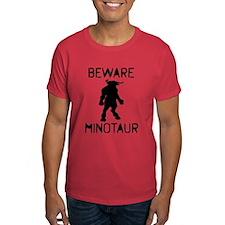 Beware Minotaur (black) T-Shirt