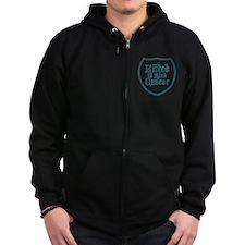 Kilted to Kick Cancer logo Zipped Hoodie
