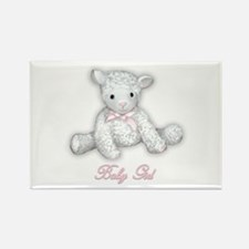 Baby Girl Lamb Rectangle Magnet
