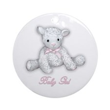 Baby Girl Lamb Ornament (Round)