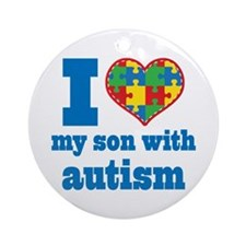 Autism - I Love My Son Ornament (Round)