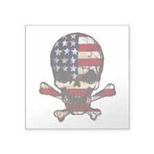 Flag-painted-Skull Sticker