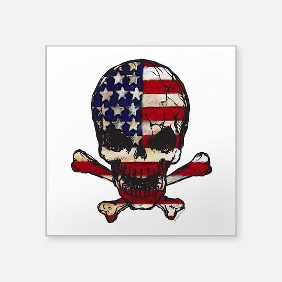 Flag-painted-Skull Sticker