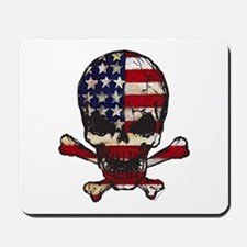 Flag-painted-Skull Mousepad