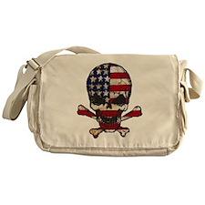 Flag-painted-Skull Messenger Bag