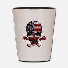 Flag-painted-Skull Shot Glass