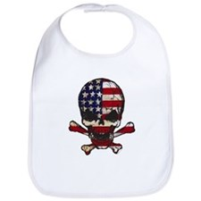 Flag-painted-Skull Bib