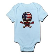 Flag-painted-Skull Body Suit