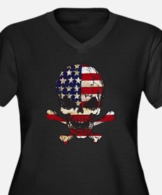 Flag-painted-Skull Plus Size T-Shirt