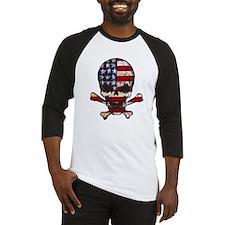 Flag-painted-Skull Baseball Jersey