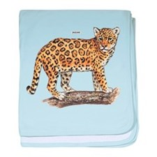Jaguar Big Cat baby blanket