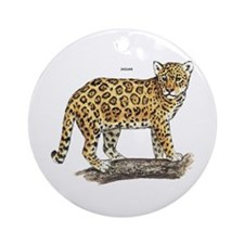 Jaguar Big Cat Ornament (Round)