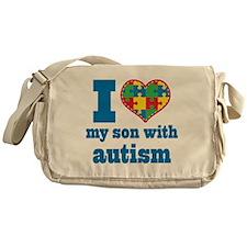 Autism - I Love My Son Messenger Bag