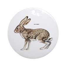 Jack Rabbit Ornament (Round)