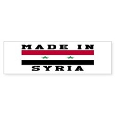 Syria Made In Bumper Sticker