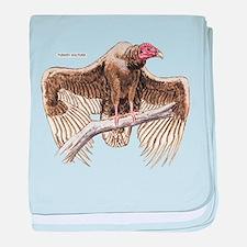 Turkey Vulture Bird baby blanket