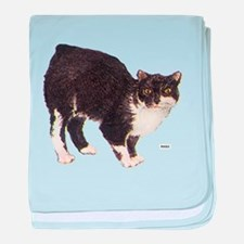 Manx Cat baby blanket