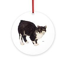 Manx Cat Ornament (Round)