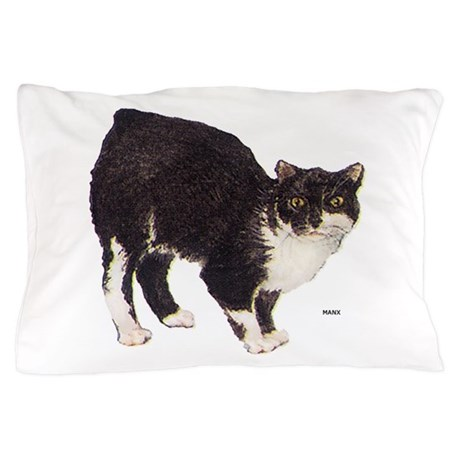 Manx Cat Pillow Case By Animalartwork
