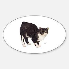 Manx Cat Sticker (Oval)