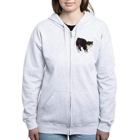 Manx Cat Women's Zip Hoodie