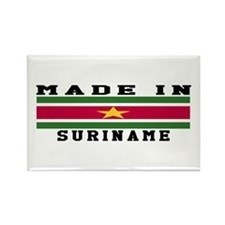Suriname Made In Rectangle Magnet