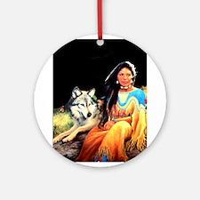 Wolfgirl Ornament (Round)