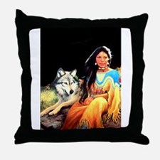 Wolfgirl Throw Pillow