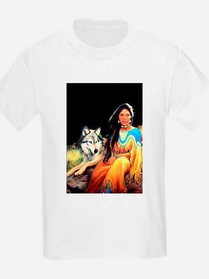 Wolfgirl Kids T-Shirt