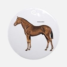 Thoroughbred Horse Ornament (Round)