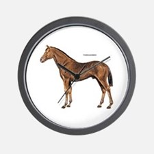 Thoroughbred Horse Wall Clock