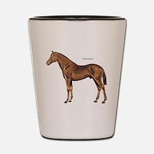 Thoroughbred Horse Shot Glass