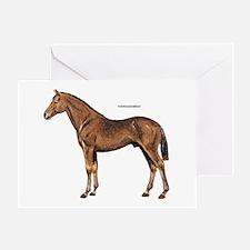 Thoroughbred Horse Greeting Card