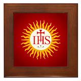 Jesuit symbols Framed Tiles