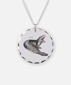 Leopard Seal Necklace Circle Charm