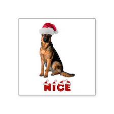 Nice German Shepherd Square Sticker 3