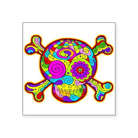 DOD Skull -2c Rectangle Sticker