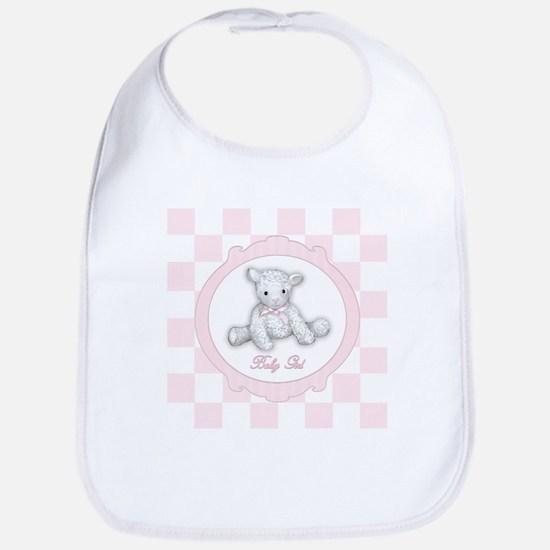 Baby Girl Lamb Bib