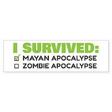 Green/Grey Apocalypse Bumper Sticker