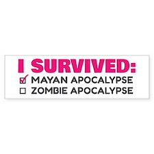 Pink/Grey Apocalypse Bumper Sticker