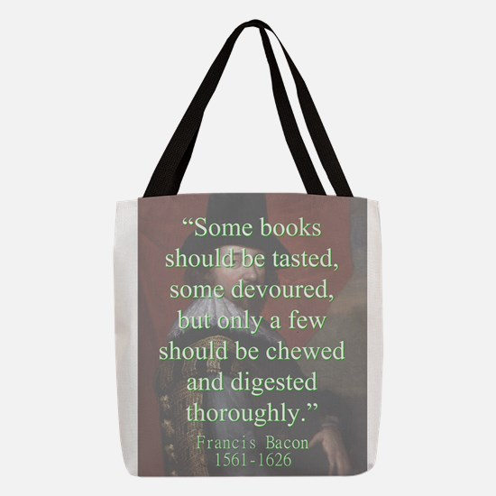 Some Books Should Be Tasted - Bacon Polyester Tote