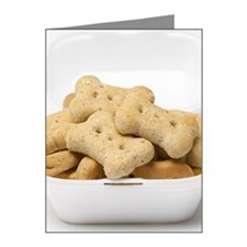 Dog Treats in Styrofoam Cont Note Cards (Pk of 20)