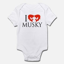 I fish Musky Infant Bodysuit