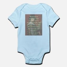 Read Not To Contradict - Bacon Infant Bodysuit