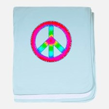 Trippy Peace Sign baby blanket