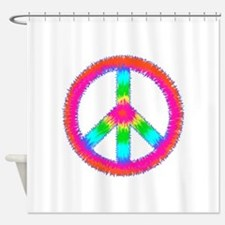 Trippy Peace Sign Shower Curtain