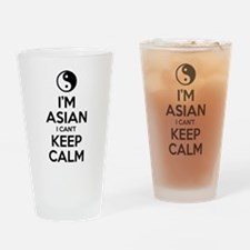 Im Asian I Cant Keep Calm Drinking Glass