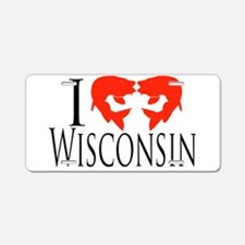 I fish Wisconsin Aluminum License Plate