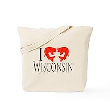 I fish Wisconsin Tote Bag