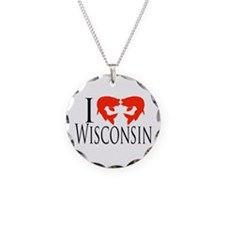 I fish Wisconsin Necklace